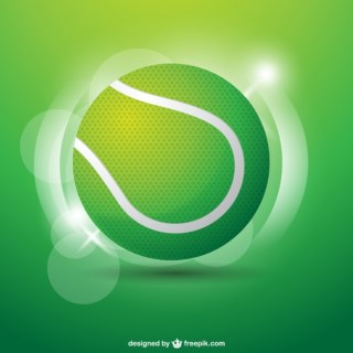 Tennis Ball Illustration Free Vector