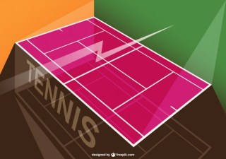 Tennis Tournament Template Free Vector