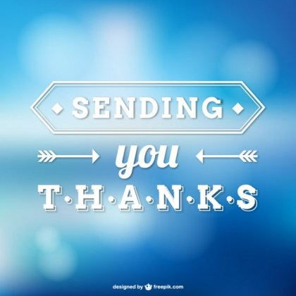 Thank You Note Free Vector
