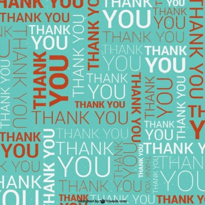 Thank You Typographic Pattern Free Vector