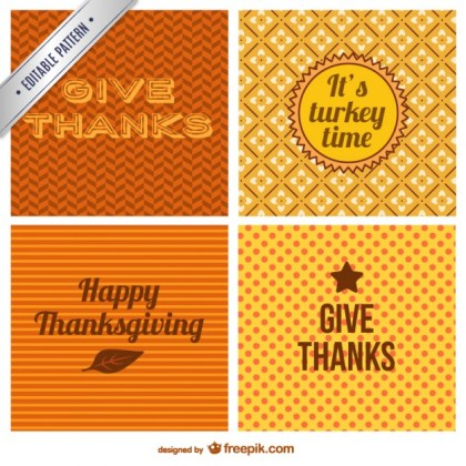 Thanksgiving Day Background Free Vector