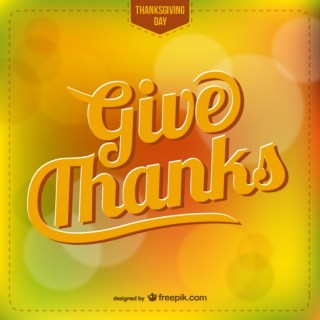 Thanksgiving Lettering Free Vector