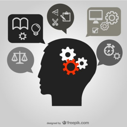 Thinking Brain Image  Material Free Vector