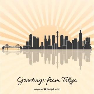 Tokyo Skyline Free Vector
