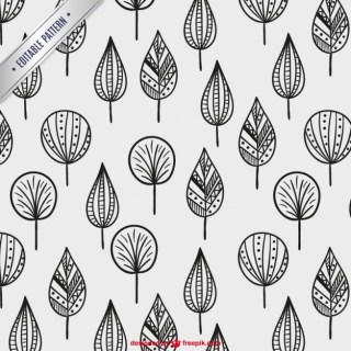 Trees Patterns Free Vector