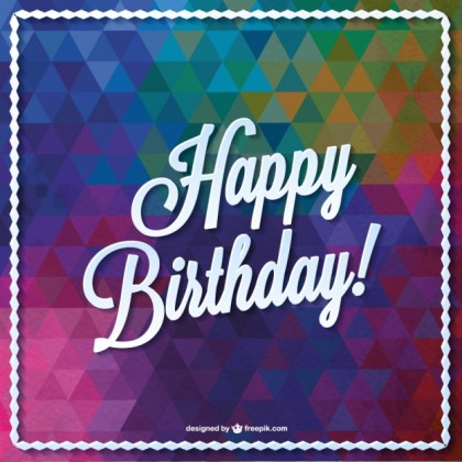Triangle Birthday Card Design Free Vector