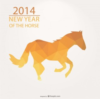Triangle Design for 2014 Year of The Horse Free Vector