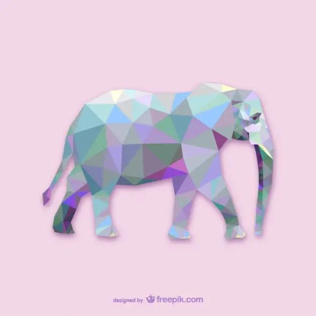 Triangle Elephant Design Free Vector