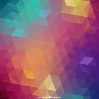 Triangle Retro Background Free Vector