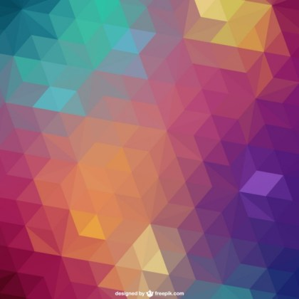Triangle Retro Background Free Vector