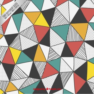 Triangles Background in Hand Drawn Style Free Vector