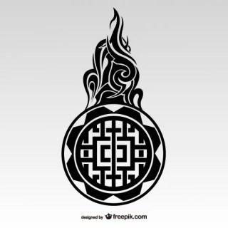 Tribal Tattoo Maori Style Free Vector