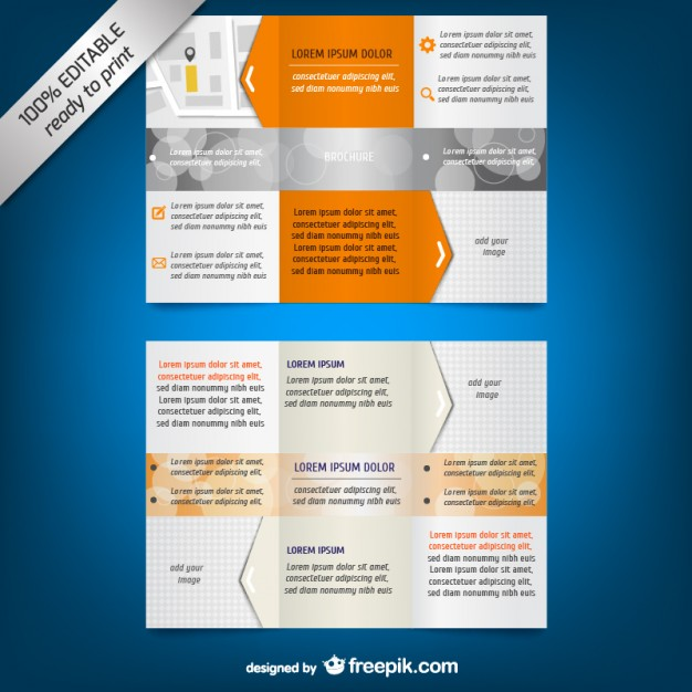 Trifold Brochure Template Free Vector 123freevectors