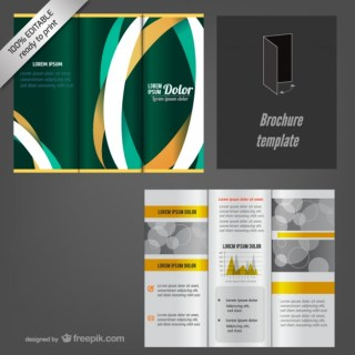 Trifold Editable Brochure Mock-Up Free Vector