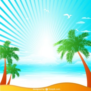 Tropical Illustration Free Vector