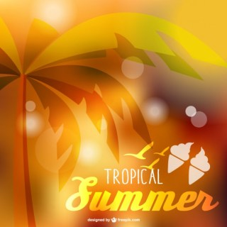 Tropical Summer Background Free Vector