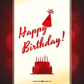 Typographic Birthday Party Free Vector