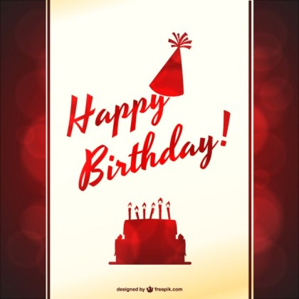 Typographic Birthday Party Free Vector