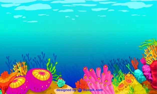 Underwater Graphics Free Vector