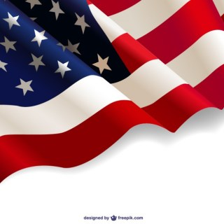 United States Waving Flag Free Background Free Vector