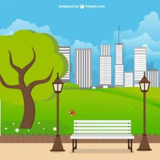 Urban Park Landscape Free Vector