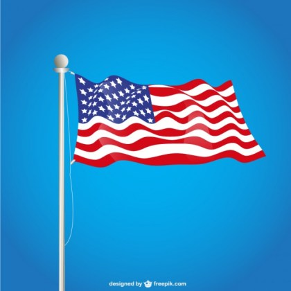 Usa Flag Free Free Vector