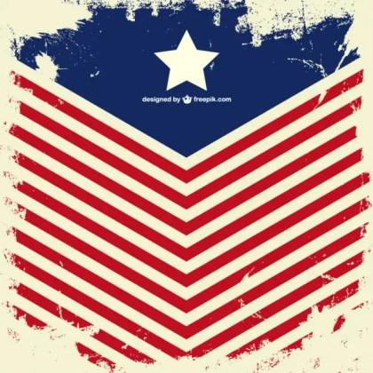 Usa Flag Grunge Design Free Vector