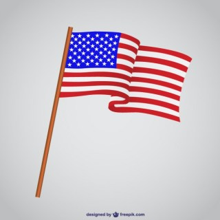 Usa Flag Illustration Free Vector