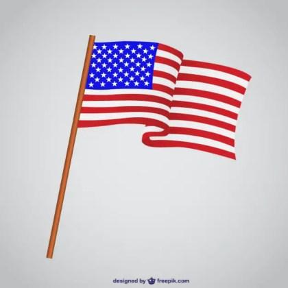 Usa Flag Illustration Free Vector