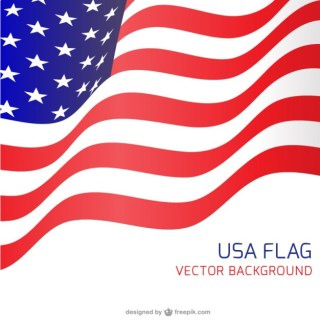 Usa Flag Waving Backgound Free Vector
