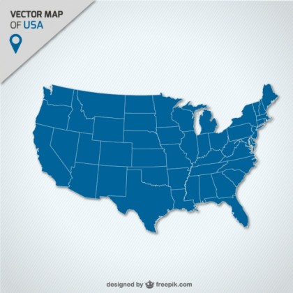 Usa Map Free Download Free Vector