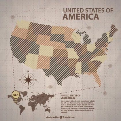 Usa Map Free for Download Free Vector