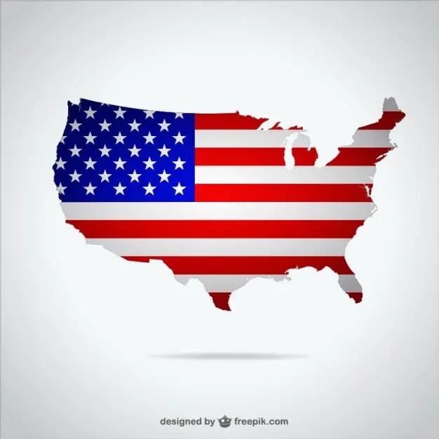 Usa Map Illustration Free Vector