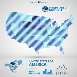 Usa Map Infography Free Vector