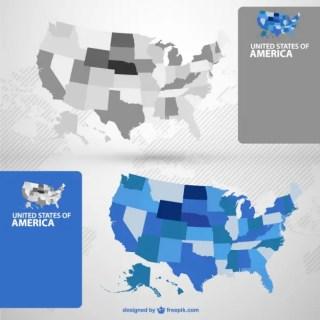 Usa Maps Free Vector