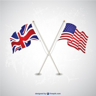 Usa Uk Flags Template Free Vector