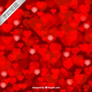 Valentines Day Background with Hearts Free Vector