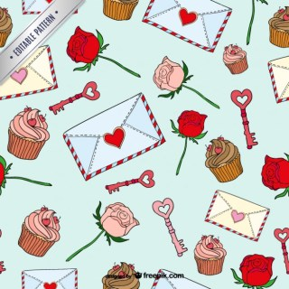 Valentines Day Seamless Pattern Free Vector