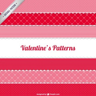 Valentine's Patterns Pack Free Vector