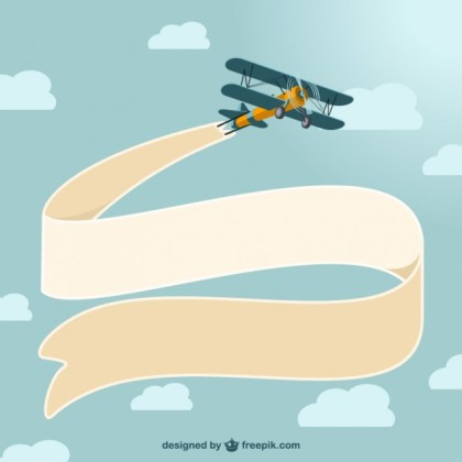 Vintage Airplane Design Free Vector