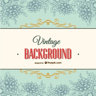 Vintage Background with Floral Ornaments Free Vector