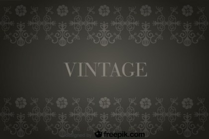 Vintage Background with Flowers Retro Decorations Free Vector