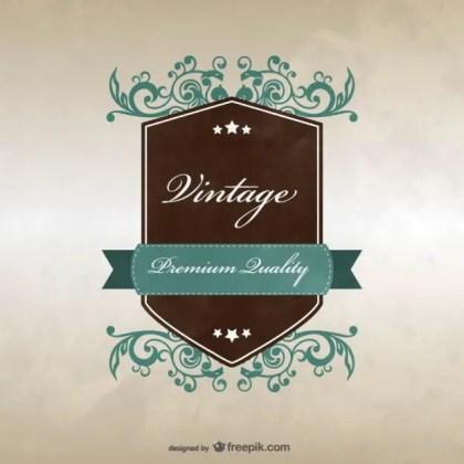 Vintage Badge Template Design Free Vector