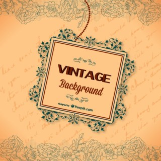 Vintage Calligraphic Greeting Card Free Vector