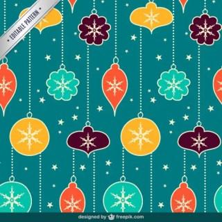 Vintage Christmas Balls Seamless Pattern Free Vector