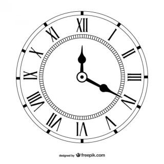 Vintage Clock Free Vector