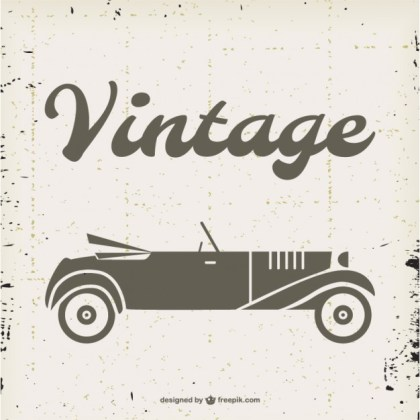 Vintage Convertible Free Free Vector