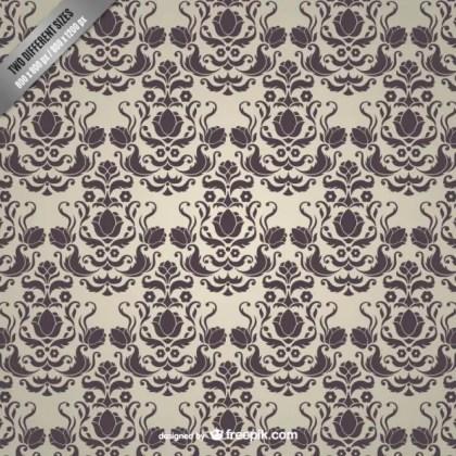 Vintage Damask Pattern Free Vector