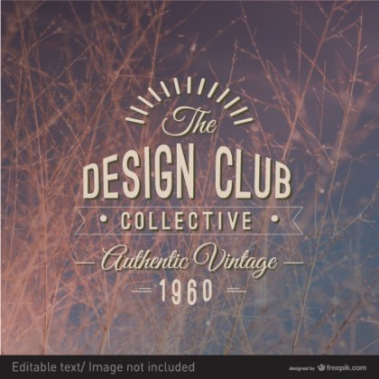 Vintage Design Typography Label Free Vector