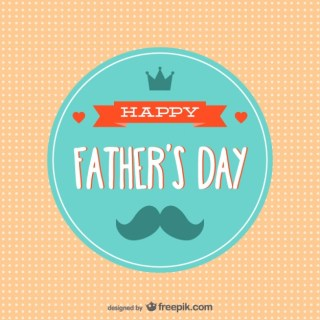 Vintage Father's Day Card Free Vector